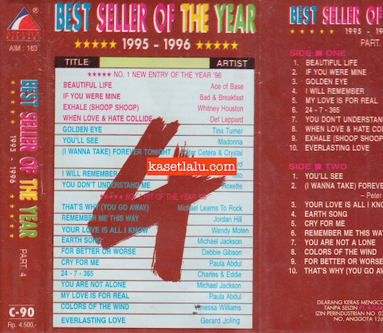 AIM 163 - BEST SELLER OF THE YEAR 1995 - 1996 PART. 4