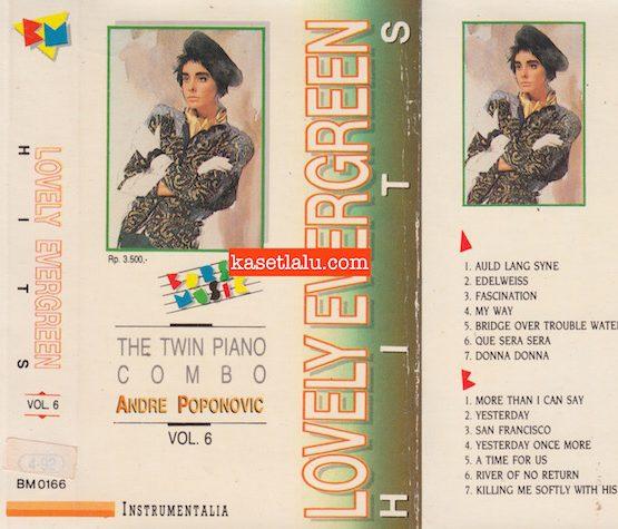 BM 0166 - THE TWIN PIANO COMBO ANDRE POPONOVIC VOL. 6 LOVELY EVERGREEN HITS INSTRUMENTALIA