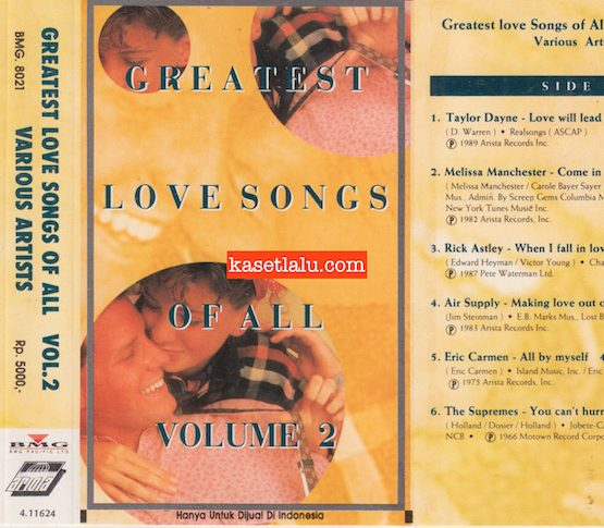 BMG 8021 - GREATEST LOVE SONGS OF ALL VOLUME 2