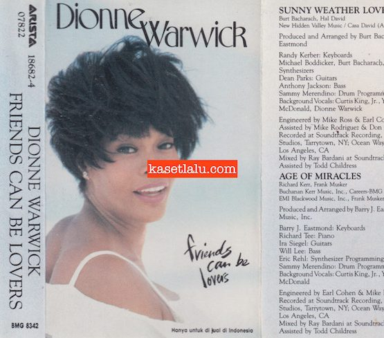 BMG 8342 - DIONNE WARWICK - FRIENDS CAN BE LOVERS
