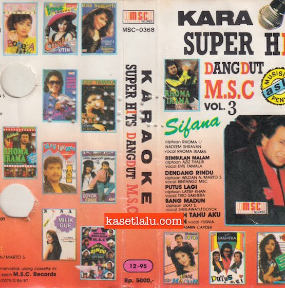 M.S.C-0368 - KARAOKE SUPER HITS DANGDUT MSC VOL. 3 - SIFANA