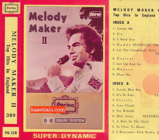 PERINA PH-128 - MELODY MAKER II TOP HITS IN ENGLAND