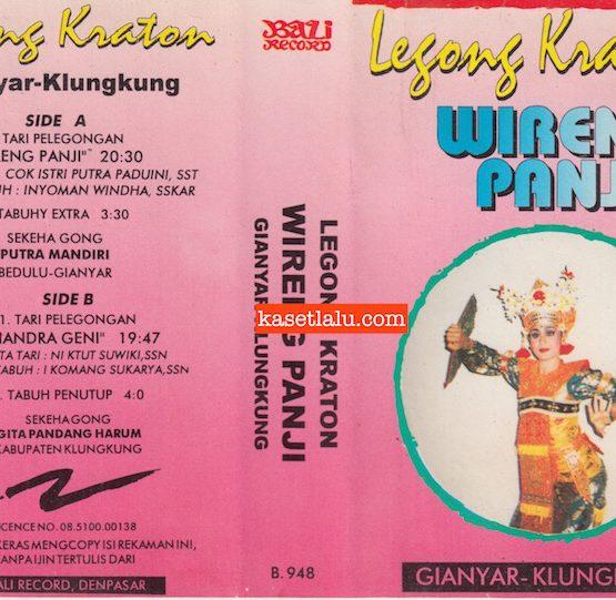 BALI RECORD B 948 - LEGONG KRATON WIRENG PANJI - GIANYAR KLUNGKUNG