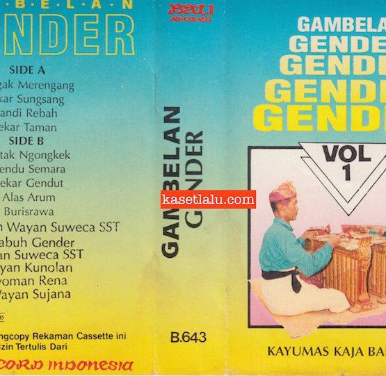 BALI RECORD B.643 - GAMBELAN GENDER KAYUMAS KAJA BADUNG