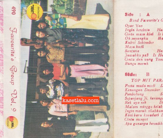 BAND FAVOURITE'S GROUP VOL. 9 & TOP HIT PARADE 1974 (BAJAKAN LAWAS)